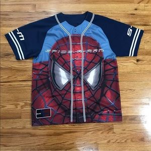 Spider Man Marvel Baseball Jersey